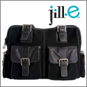 Jill-e large leather rolling camera bag