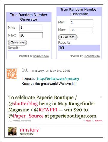 [ Paper Source gift card winner ]